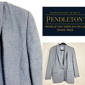 Pendelton Vintage Gray Wool Blazer.  Size 12